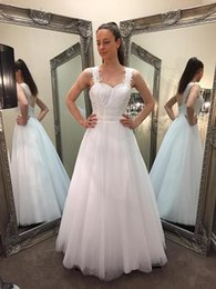Wholesale Red Lace Debs Dresses - 2015 Elegant White Deb Dresses A Line Sweetheart Straps Covered Buttons Back Lace Appliques Bodice Girls Special Occasion Dresses Prom Gowns