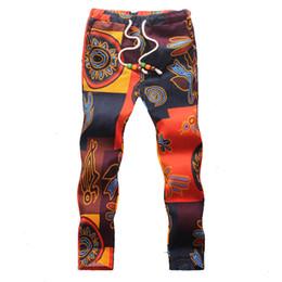 Wholesale Linen Pants Wholesale - Wholesale- 2017 summer floral Ankle-length pants linen big size men's trousers (Asian size M5XL)