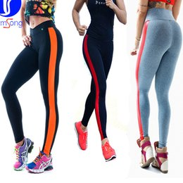 Wholesale Thongs Women New Hot - New Hot Good Selling Ladies Women Outdoor Sports Slim Shaping Yoga Pants Thong Stitching Leggings Fitness Trousers