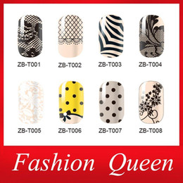 Wholesale 2d Nails - Newest Nail Art Stickers,3sheets lot Adhesive Smooth Lace Design Full Wrap Nail Foil Patch,Manicure Nail Decoration Accessories