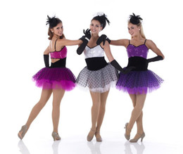Wholesale Ballet Dance Competition - ballet tutu clothes for dancing Latino adults performing a new women's clothing apparel competition dance dress dance skirt flows Su La