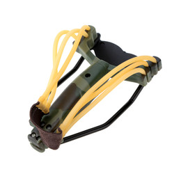 Wholesale Slingshot Hunting Catapult - Hot Outdoor Powerful Sling Shot Folding Wrist Adult Slingshot Camouflage Hunting Slingshot Catapult for Marble Games Hunting order<$18no tra