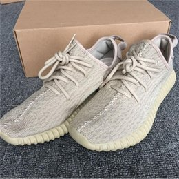 Wholesale Yellow Oxford Shoes - Sneakers Women 2017 Boost 350 Pirate Black Turtle Dove Moonrock Oxford Tan Running Shoes for Men Kanye West 350 Boost with Box