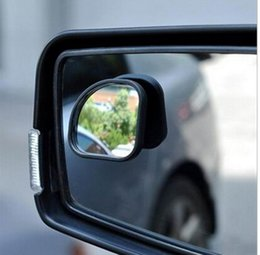 Wholesale Small Adjustable Mirrors - Wholesale-2pcs lot Car rearview mirror small round mirror Blind spot mirror Wide-angle lens 360 Degrees adjustable Rear view auxiliary