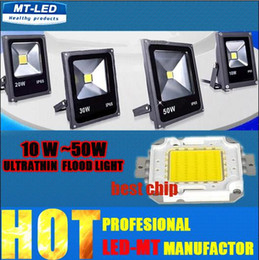 Wholesale outdoor green led flood light - LED Ultrathin 20W 10W 30w 50W Led Floolights AC 85-265V 5000LM ture power outdoor IP65 Led flood lamp Landscape cold white R G B light