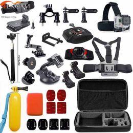 Wholesale Gopro Hero Head - Freeshipping accessories set For GoPro Hero 6 5 session 4 xiaomi yi 4k+ SJCAM SJ6 Legend sj5000 action camera