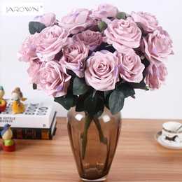 Wholesale French Artificial Flowers - Artificial Silk 1 Bunch French Rose Floral Bouquet Fake Flower Arrange Table Daisy Wedding Home Decor Party Accessory Flores