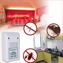 Wholesale Electronic Repeller Riddex - In stock New Riddex Plus Ultrasonic Electronic bug zapper mosquito killer Pest & Rodent Repeller free shipping