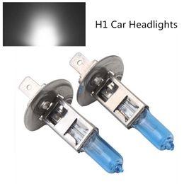 Wholesale H1 Car Lamp - 12V 55W H1 Ultra-white gold light Xenon HID Halogen Car Headlights Bulbs Lamp 6500K Auto Parts Car Light Source Accessories