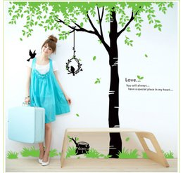 Wholesale Packaging Design Promotion - Removable Beautiful Birds tree Wall Stickers Decal Home Accessories Pattern Design on Promotion wall Mural Home Decoration