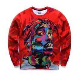 schwitzt hoodies Rabatt 2016 neue Männer Sweatshirts 3D Harajuku 2 Pac Tupac Biggie amerikanischen gangster Rap Hoodies TUPAC SHAKUR CREWNECK Sweats Pullover Tops