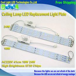 Porta tubo condotto online-All'ingrosso-41 centimetri 220V ad alta luminosità 5730 LED Bar Luci LED Tube, Lampada da soffitto sorgente luminosa a LED, con alimentatore + supporto magnetico.