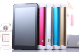 Wholesale Touch Play Tablet - 7 inch 3G Phablet Phone Calling Tablet PC MTK6572 Dual Core Android 4.2 Capacitive Touch WCDMA Bluetooth Camera