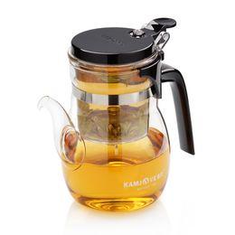 Wholesale Tea Glasses Cup - free shipping Kamjove k-206 tea pot glass teapot elegant cup glass tea set
