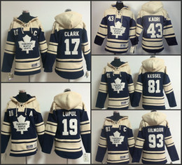 Wholesale Doug Gilmour - Cheap Youth Stitched Toronto Maple Leafs hoodies 17 Wendel Clark 81 Phil Kessel 93 doug gilmour Jersey Hockey Hoodies Sweatshirts Size:S-XL