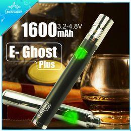 Wholesale Super Ego - Boluvaper E-Ghost battery E cig adjustable voltage long lasting 1600mah super vapor Ego battery e cig battery vs Vision spinner 2 carbon 3