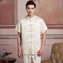 Envío gratis artes marciais mens camisa chino tradicional hombres ropa kung fu uniforme kimono camisa camisa china 6 color 2519 desde fabricantes