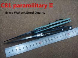 Wholesale Hunting Tops - Top Popular Folding Knife C81 GP2 Paramilitary II Pocket EDC Knife G10 Handle S30V Blade Outdoor Camping Survivl Knives