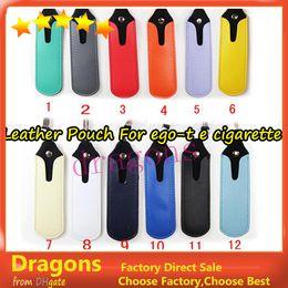 Wholesale Ego V Cig - colorful e cig battery PU Leather pouch ego t portable carrying bag necklace lanyard for ego-t e cigarette ego-c twist vision spinner ego-v