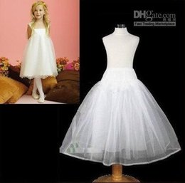 Wholesale Little Girls Petticoat Dress - 2016 White Flower Girl's Petticoat Crinoline Baby Kids Little Girls Ball Gown Underskirt Cheap Girl's Pageant Dresses Kids' Accessories