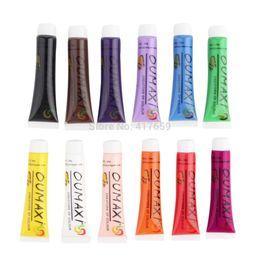 Wholesale Gradient Nail Polish - 1 SET 12 Colors Painting Acrylic 3D Nail Art Paint Tube Draw Newest Brand New Nail Art Tip UV Gel