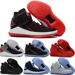 Wholesale Flights Cheap - Best Retro 32 Men Basketabll Shoes Cheap Retro 32s XXXII Gym Red Rosso Corsa Bred Flight Speed Crack Day Space Jam Sport Sneakers