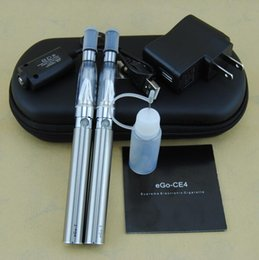 Wholesale Double Stem - eGo-CE4 Electronic Cigarettes Kits 1.6ml Dual Stem E Cig 420mA Battery Double Starter Kits CE4 Ego Vaporizer Atomizers DHL 10pcs