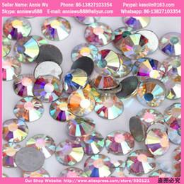 Wholesale Crystals For Nails - Wholesale-Super Shiny AB Crystal 1440pcs Bag Swarovski Nail Art Crystals Rhinestones Decoration for Nails Free Shipping