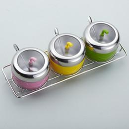vasi di spezie all'ingrosso Sconti All'ingrosso-Spice vaso di forniture per la cucina in acciaio inox condimento scatola condimento salsa pentola set di condimento