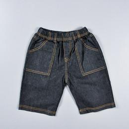 Wholesale 6t Boys Denim Jeans - Retail children Denim shorts 2015 summer style fashion girls jeans baby clothing boys cowboy pants solid kids clothes for 2-6T 201508HX