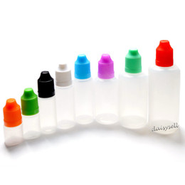 Wholesale E Liquids Empty Bottle - LDPE E Liquid Bottle With Childproof Cap and Long Thin Tip 3ml 5ml 10ml 15ml 20ml 30ml 50ml Empty Plastic Dropper Bottle