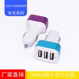 Wholesale Ma Usb - 2016 Mini Usb 3100 (ma) New Mini Usb Dc12v Micro-usb  White Car Battery Charger Factory Outlet 3usb Tablet Phone Universal Cephalopods 3.1a