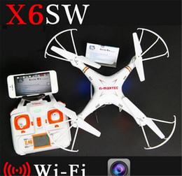 Профессиональная вертолетная камера rc онлайн-Новые дешевые X6sw WIFI Fpv игрушки камеры rc вертолет drone quadcopter профессиональные дроны с камерой HD против X5SW X600 Drone DHL