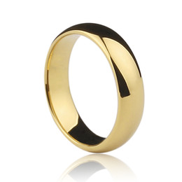 Wholesale Tungsten Couples Wedding Rings - wholesale-- Customize Super Deal Ring Golden Plated Tungsten Woman Man's wedding Rings Couple Rings,band rings