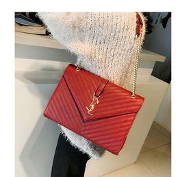 Wholesale Cheap Designer Handbag Brands - famous Brand Women Messenger Bags 2017 Luxury Handbags best cheap Women Bags Designer Leather Purses Chains Clutch Crossbody For Ladies