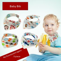 Baberos Babero 100% Algodón Bebé Prevenir el goteo de saliva Sin agente fluorescente Kids Infant Triangle Head Scarf Bandana. desde fabricantes