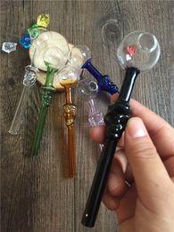 2019 palla di tubo diritto Bruciatore a gas per cranio Pipa di fumo dritto riciclato a mano riciclato Miglior 12 cm 30 millimetri di vetro palla pipa spedizione gratuita