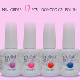 Wholesale Neon Nail Polish Colors - 12pcs soak off neon colors lacquer led uv soak off nail gel polish gelish nail polish