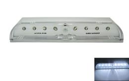 Auto Pir Keyhole bianco eccellente del sensore di movimento 8 LED serratura della porta principale lampada della lampadina di trasporto da ornamenti di natale di natale di legno fornitori