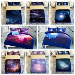 Wholesale 3d Printed Duvets - 9 Styles 3D Galaxy Printed Child Christmas Bedding Sets Europe Type Style Duvet Covers for King Size Bedding Duvet Cover Gift CCA7977 1set