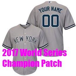 Wholesale Yankees Jersey Jeter - 2017 World Series Champion New York Yankees 2 Derek Jeter 54 Aroldis Chapman Baseball Jerseys Custom Sports Throwback mlb Cheap Jersey Women