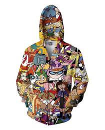 Wholesale Men Classic Hooded Jacket Hoodie - Classic Full Zip Hooded Sweatshirt men women's running jacket and hoodie Totally 90s Zombie print 3d shirt winter spring fashion long sleeve