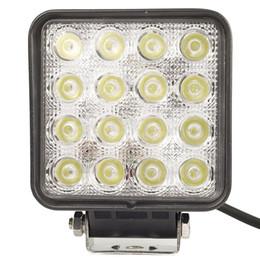 Wholesale Led Spotlights 4x4 Wholesales - 20pcs 4.5 inch 16X3W 48W Spot Flood Work led light Foglight 12V 24V Offroad LED Headlight car 4x4 Tractor Drive Spotlight Lamp
