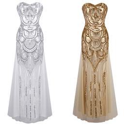 Ángel-modas mujeres lentejuelas sin tirantes cariño tul Flapper Gatsby vestido de boda imperio vestido FBA-186 desde fabricantes