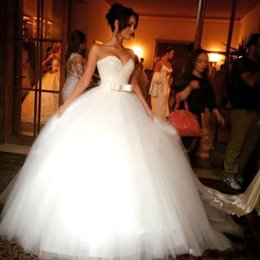 Wholesale Taffeta Sweetheart Sleeveless Ball Gown - 2016 Luxury Beaded Ball Gown Princess Wedding Dresses Sweetheart Backless Crystal Tulle Cathedral Church Bling Bridal Gowns Plus Size Cheap