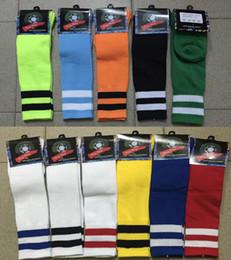 Wholesale Kids Socks Wholesale - wholesale 2015-2016 youth Kids children boys socks Football Soccer Sport Above Knee Tube Socks Long Thick Bottom Soccer Stockings socks