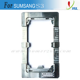 Wholesale Galaxy S3 Aluminium Frame - Aluminium Alloy Metal Mold for Samsung Galaxy S3 S4 S5 S6 S7 LCD Refurbish Repair Broken Glass Frame Fixer Mould Free Shipping