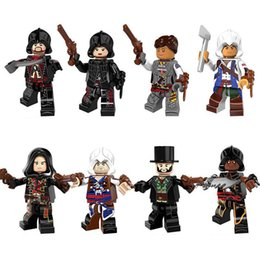 Wholesale Assassins Creed Connor Toy - Building Blocks Minifigures Action Bricks Assassin Creed Connor Kenway Arno Evie Frye Aveline Kids Christmas Gift DIY Toys 8pcs set PG8086