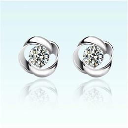 Wholesale Love Studs Earrings - New Design 925 sterling silver earrings retro rotary love flower Shape Ear Stud Earrings for women