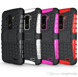 Wholesale E973 Case - 200pcs TPU+PC Dual Layer Heavy Duty Rugged Defender Hybrid Kickstand Case For LG Optimus G LS970 E973 Cover Skin With Stand Shockproof
